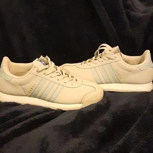 Adidas Samoa light gray light blue sneakers